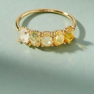 Anthropologie Ombré Birthstone Ring